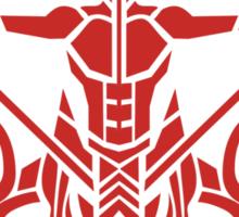 Zodiac Sign Sagitarius Red Sticker