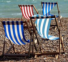 Deckchairs in Brighton (2) by Richard Waldron