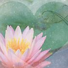 Lotus Heart by Emma  Wertheim~Blue Butterfly Art