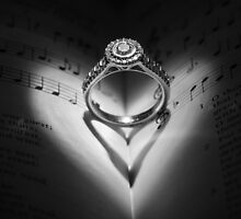 Diamond Beauty - Diamond ring in an open hymn book by Jennifer Gillham
