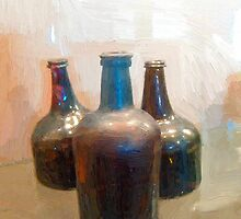 Vintage Wine Bottles by suzannem73