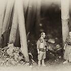 Kyuzo and Kambey in the Forest by Daniel Panea de la Poza