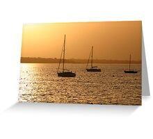 Boat Silhouette Greeting Card