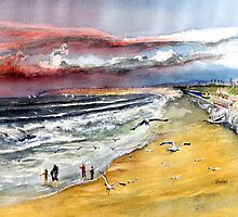 San Clemente Beach - blustery day by Rob Beilby
