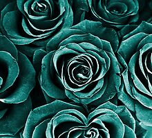 Rose Bouquet in Turquoise by Igor Shrayer