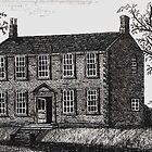 044 - HAWORTH PARSONAGE AS THE BRONTES KNEW IT - DAVE EDWARDS - PEN &amp; INK - 1981 by BLYTHART