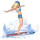 Surfing Girl by LuxMaris