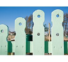 Sunny Fence Photographic Print