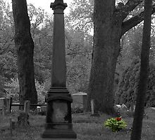 Tombstone with Flowers by Jennifer  Causley