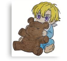 Baby Tamaki Suoh with Kuma-chan the bear Canvas Print