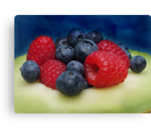 Yummy for the tummy... Canvas Print