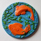 goldfish through the weeds by Babz Runcie
