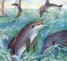 Dolphins by Natalie Berman