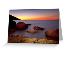 Sunset -N-Silk Greeting Card