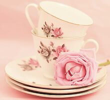 Vintage Teacups  by Nicola  Pearson