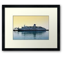 Marko Polo ship, Croatia Framed Print