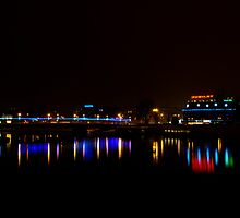 Reflection on Vistula River, Krakow by Dhruba Tamuli
