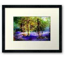 Bluebell Fox Framed Print