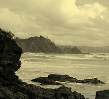 View to the Pass - Byron Bay  by Louise Linossi Telfer