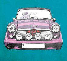 Mini in Pink by David Asch