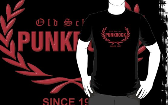 Old School PUNKROCK Since 1977 (in red) by Bela-Manson