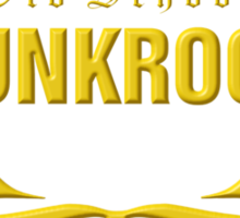 Old School PUNKROCK Since 1977 (in Gold) Sticker