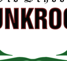 Old School PUNKROCK Since 1977 (green l.w.) Sticker