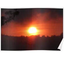 golden columbia river sunrise 3 Poster