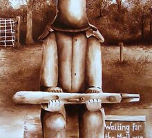 Waiting For The Mail Run by Nina  Henry