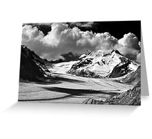 Clouds over the Aletsch Glacier Greeting Card