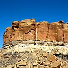 Cliffs at Chaco Canyon by David DeWitt