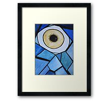 The eye with scales Framed Print