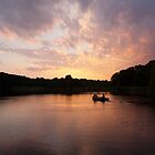 Sunset over Rising Sun Lake by steve917