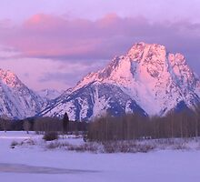 Oxbow Bend Winter Sunrise Panorama by Stephen Vecchiotti