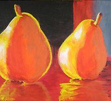 Flaming Pears by GillKnox