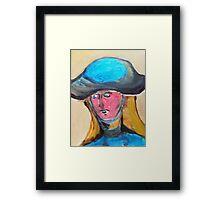 Her First Sun Hat Framed Print
