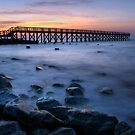 Wooden Pier Sunrise by Michael Mill