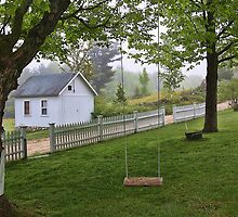 Rural Maine -- Dirt Roads and White Picket Fences by T.J. Martin