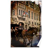 Horse & Carriage, Quebec City Poster