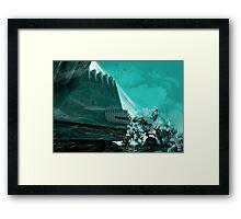 PART 12 - The white light of death Framed Print