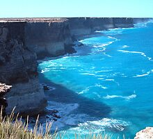 Bunda (Nullarbor) Cliffs - Great Australian Bight by Ian Berry