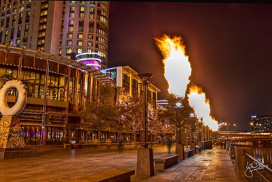 Southbank Flames by Lynden