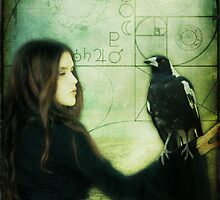 Girl with Magpie by Sybille Sterk
