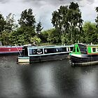 THREE LITTLE NARROW BOATS by martinhenry