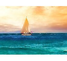 Sailing in the Sunset Photographic Print