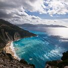 Myrtos Beach in Kefalonia by Melanie Simmonds
