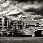 Nottingham Canal b&w  by Richard Jackson
