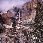 YOSEMITE FALLS,WINTER by Chuck Wickham