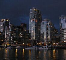 Sunsets-City Lights Up by Tom Davidson