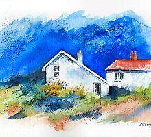 TWO WHITE HOUSES BY THE SEA by RainbowArt